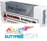 Parliament Silver King Size cigarettes made in EU. 1 carton, 10 packs. Free shipping!