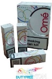 Karelia Ome White Superslims cigarettes made in Greece. 1 carton, 10 packs. Free shipping!