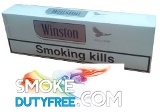 Winston Silver King Box cigarettes made in EU. 1 carton, 10 packs. Free shipping!