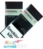 Dunhill Fine Cut Black cigarettes made in EU. 1 carton, 10 packs. Free shipping!