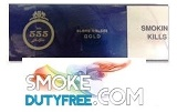 State Express King Box 555 Gold cigarettes made in EU. 1 carton, 10 packs. Free shipping!