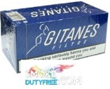 Gitanes Brunes Filter cigarettes made in France. 1 carton, 10 packs. Free shipping