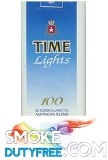 Time 100s Blue cigarettes made in EU. 1 carton, 10 packs. Free shipping!