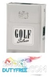 Golf Silver 100 Hard Pack cigarettes made in EU. 1 carton, 10 packs. Free shipping