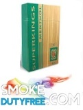 Superkings Menthol 100 Box cigarettes made in UK. 1 carton, 10 packs. Free shipping!