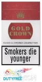 Gold Crown King Size cigarettes made in EU. 1 carton, 10 packs. Free shipping