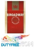Broadway 100s cigarettes made in EU. 1 carton, 10 packs.