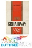 Broadway King Size cigarettes made in EU. 1 carton, 10 packs.