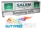 Salem Green Menthol cigarettes made in EU. 1 carton, 10 packs. Free shipping!