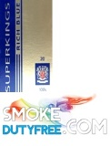 Superkings Blue 100 Box cigarettes made in UK. 1 carton, 10 packs. Free shipping!