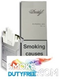 Davidoff Superslim White cigarettes made in Germany. 1 carton, 10 packs.