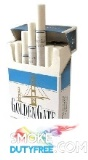 Golden Gate Blue King Size Hard Pack cigarettes made in EU. 1 carton, 10 packs. Free shipping